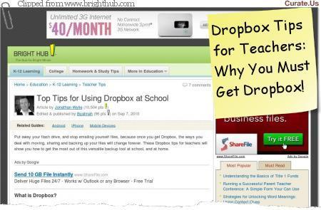 The Complete Dropbox for Educators | Tech the Plunge | Edtech PK-12 | Scoop.it