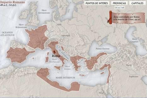 El imperio romano:  mapa interactivo | Historia y Mapas | Scoop.it