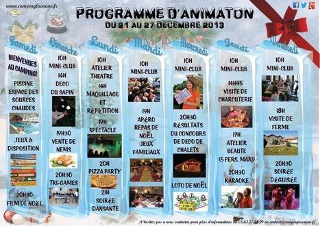 Programme d'animation des vacances d'hiver au Camping des Sources Chaudes à Lacaune | Camping lacaune | Scoop.it