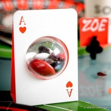 Carte à jouer porte boule plexi pour dragées | Cbodeco.com - Boutique Festive | Scoop.it