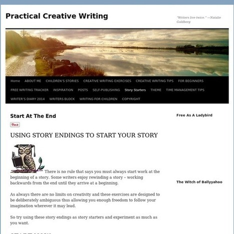Story starters - avoiding the blank page.Practical Creative Writing | Ray's Writing and Grammar | Scoop.it