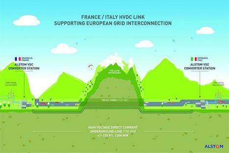 Alstom relie les réseaux électriques de la France et l'Italie pour plus de 300 millions d'euros   Eolien : stockage et raccordement   Scoop.it