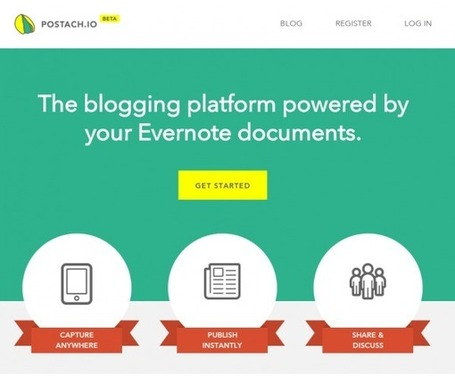 Postach.io – Transforma tus notas de Evernote en un blog | Cajón de sastre Web 2.0 | Scoop.it