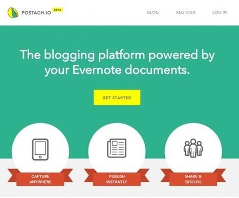 Postach.io – Transforma tus notas de Evernote en un blog | El rincón de mferna | Scoop.it