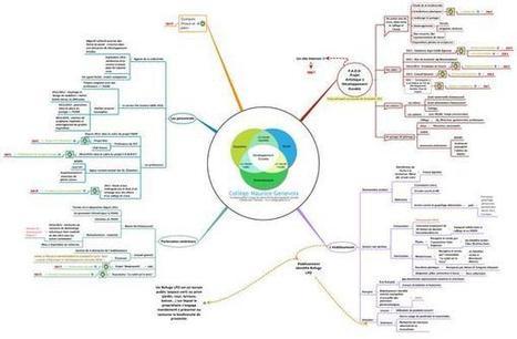 Carte heuristique présentant la démarche de développement durable du collège | twitter : quels usages ? | Scoop.it