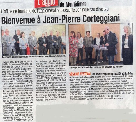 L'équipe de l'office de tourisme de Montélimar souhaite la bienvenue à M. Corteggiani | frederic beretta | Scoop.it