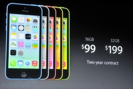 Apple announces the iPhone 5C: 4-inch Retina display, plastic design, available in five colors starting at $99 on-contract | Technology and Gadgets | Scoop.it