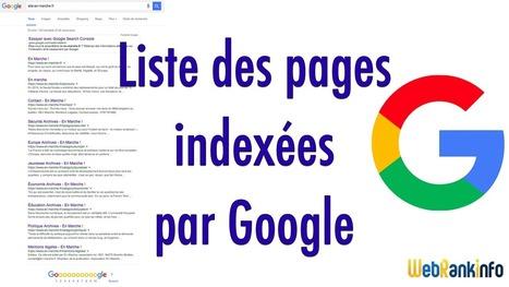 Astuces pour obtenir la liste des pages indexées par Google | SEO SEA SEM - Référencement Naturel & Payant | Scoop.it