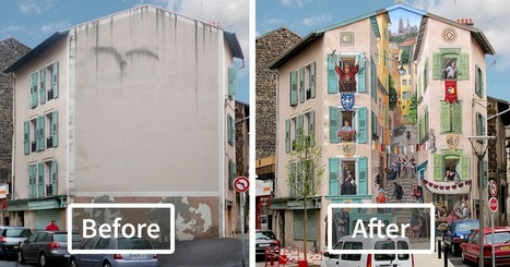 French Artist Transforms Boring City Walls Into Vibrant Scenes Full Of Life | ESL- EFL and Art | Scoop.it
