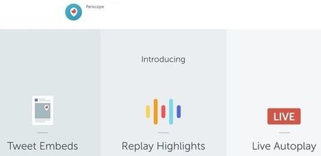 La vidéo Periscope se regarde maintenant en dehors de l'application | Chiffres et infographies | Scoop.it