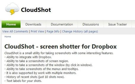 CloudShot: A Useful Screenshot Utility That Integrates With Dropbox | Educatief Internet | Scoop.it