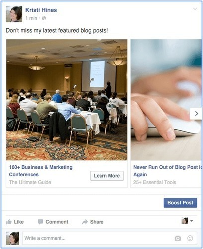 How to Pin Your Facebook Carousel Ad as a Page Post : Social Media Examiner | Social Media | Scoop.it