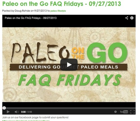 Paleo on the Go FAQ Fridays - 09/27/2013 | Convenient Paleo Diet Meals | Scoop.it