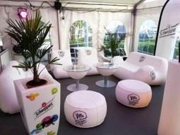 Schweppes continue ses événements avec le mobilier gonflable UNC Pro | Blog UNC Pro® | Schweppes | Scoop.it