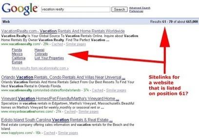Google affiche de nouveaux Sitelinks dans ses résultats | Web Marketing Magazine | Scoop.it