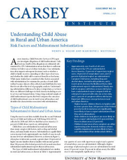Understanding Child Abuse in Rural and Urban America: Risk Factors and Maltreatment Substantiation | Abuse in rural America | Scoop.it