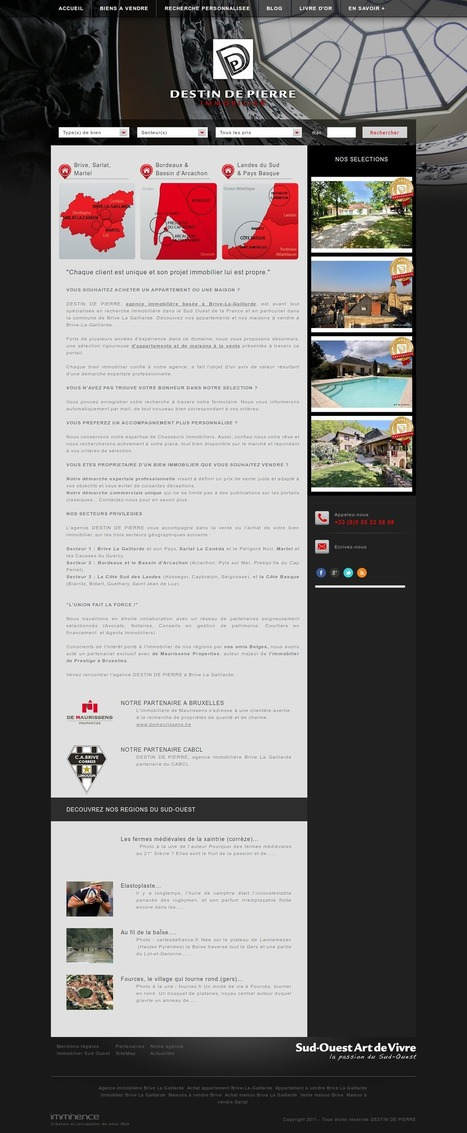 Beau site immobilier | Webmarketing Immobilier Imminence | Scoop.it