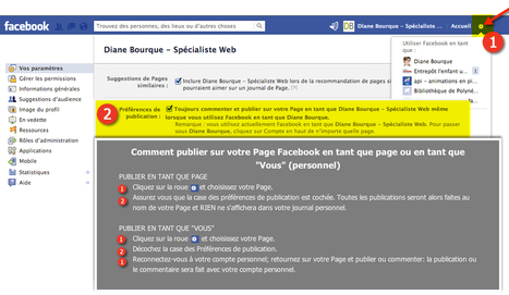 Comment publier sur votre Page Facebook en tant que Page ou en tant que Vous (personnel) | marketing et google+ | Scoop.it