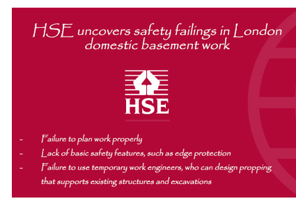 HSE uncovers safety failings in London domestic basement work | All Accident Claims Blog | Scoop.it