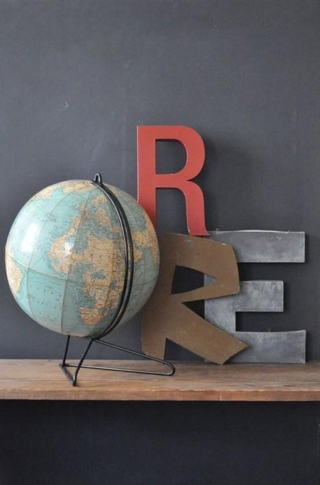 Globes terrestres et autre mappemondes dans notre intérieur – Cocon de décoration: le blog | Décoration | Scoop.it