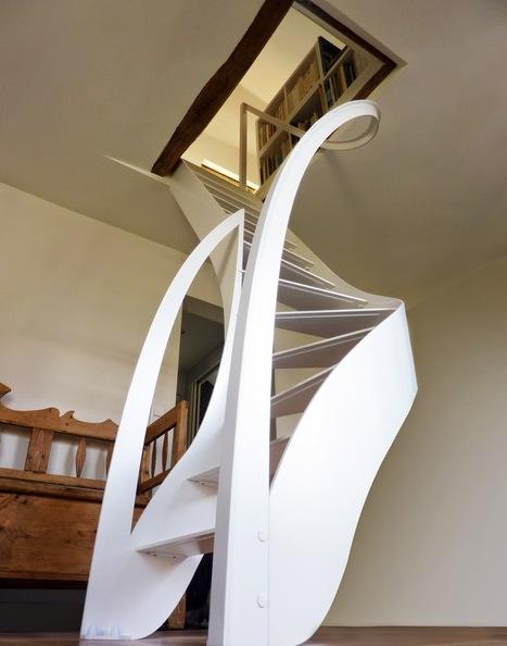 La Stylique: L'escalier design magnifie les courbes | Escalier Design Mobilier Contemporain de style Art Nouveau | Scoop.it