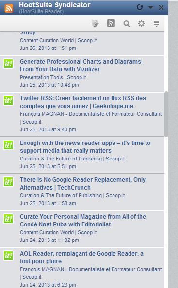 Hootsuite Syndicator, le dernier RSS Reader en date... ou pas? | Curación de contenidos e Inteligencia Competitiva | Scoop.it