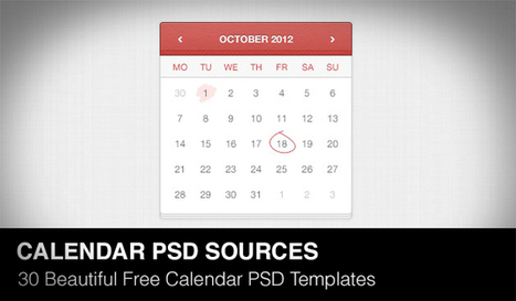 30 Beautiful Free Calendar PSD Templates - Web Design Tunes | Daily Design Notes | Scoop.it