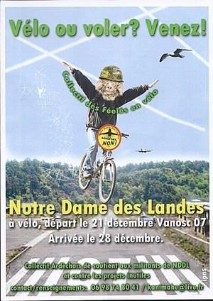Notre Dame des Landes : Collectif des féelés en vélo, de Vanosc (07) à NDDL | Notre dame des landes (collectif) | Scoop.it