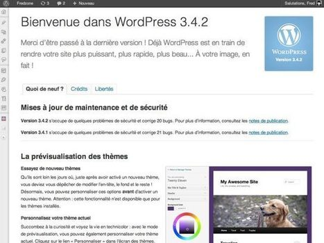 WordPress 3.4.2 : nouvelle mise à jour de sécurité ! | Geeks | Scoop.it