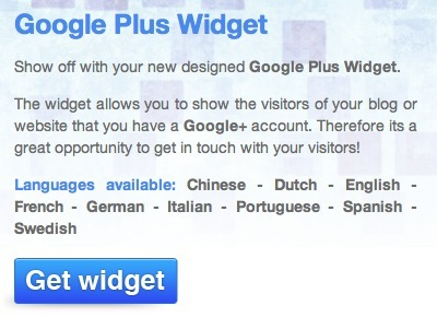 6 Tools to Create a Google Plus Profile Widget for Your Site | ALL OF GOOGLE PLUS WITH PHILIPPE TREBAUL ON SCOOP.IT | Scoop.it