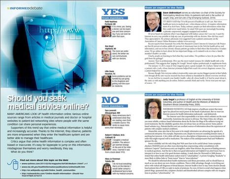 "Costco magazine's debate for June: ""Should you seek medical information online?"" « e-Patient Dave 