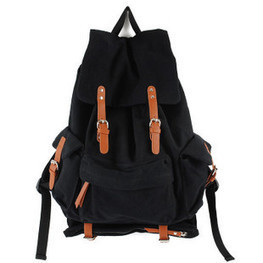 Classic black canvas rucksacks | best daypacks from Vintage rugged canvas bags | personalized canvas messenger bags and backpack | Scoop.it