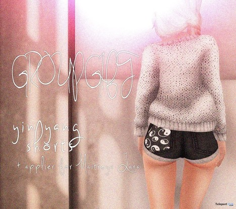 Yingyang Patch Shorts with Maitreya Lara Applier Group Gift by Imbue | Teleport Hub - Second Life Freebies | Second Life Freebies | Scoop.it