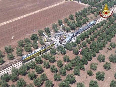 At least 20 dead and dozens injured in Italy train disaster as mayor likens scene to a 'plane crash' | Railway's derailments and accidents | Scoop.it
