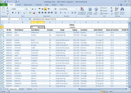 An Overview of Excel 2010's Database Functions - For Dummies | Tehnici de cautare in bazele de date | Scoop.it
