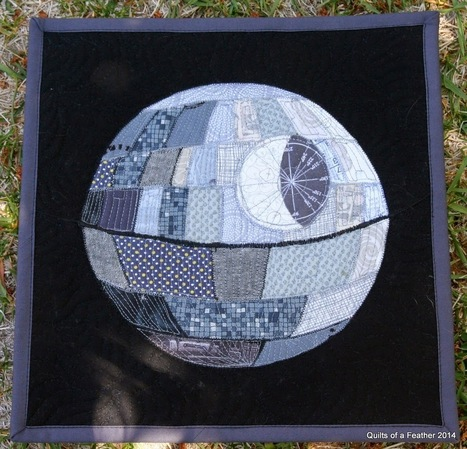 Quilts of a Feather: Patchwork Death Star mini quilt | GeekGasm | Scoop.it