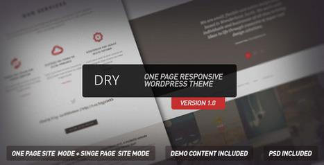 Dry  - One Page Responsive Wordpress Theme | Latest Wordpress Themes | Scoop.it