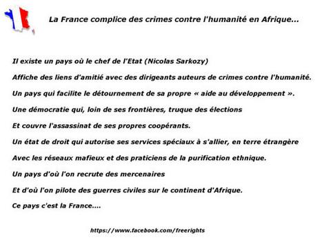 La France complice des crimes contre l'humanité en Afrique... | Actualités Afrique | Scoop.it