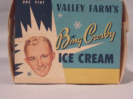Vintage Advertising Carton Bing Crosby Valley Farm's Ice Cream, Pint Paper Box | Antiques & Vintage Collectibles | Scoop.it
