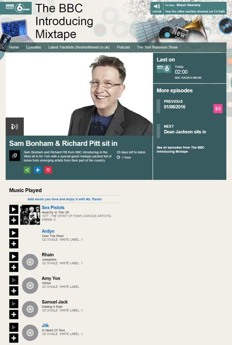 Jilk ' In Need Of Tess' on Sam Bonham & Richard Pitt sit in, The BBC Introducing Mixtape - BBC Radio 6 Music Aug 2016 | Jilk | Scoop.it