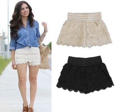 Vintage High Waist Lace Shorts from yourfashionsandcute | bebpiloo | Scoop.it
