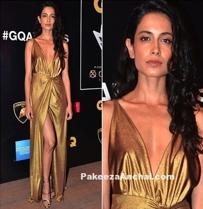 Sarah Jane Dias in Golden outfit by Deme by Gabriella | Indian Fashion Updates | Scoop.it