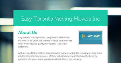 Easy Toronto Moving Movers Inc   Easy Toronto Moving Movers Inc   Scoop.it