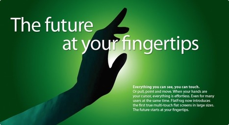 FlatFrog's multi-touch technology, called Planar Scatter Detection (PSD), | FutureChronicles | Scoop.it