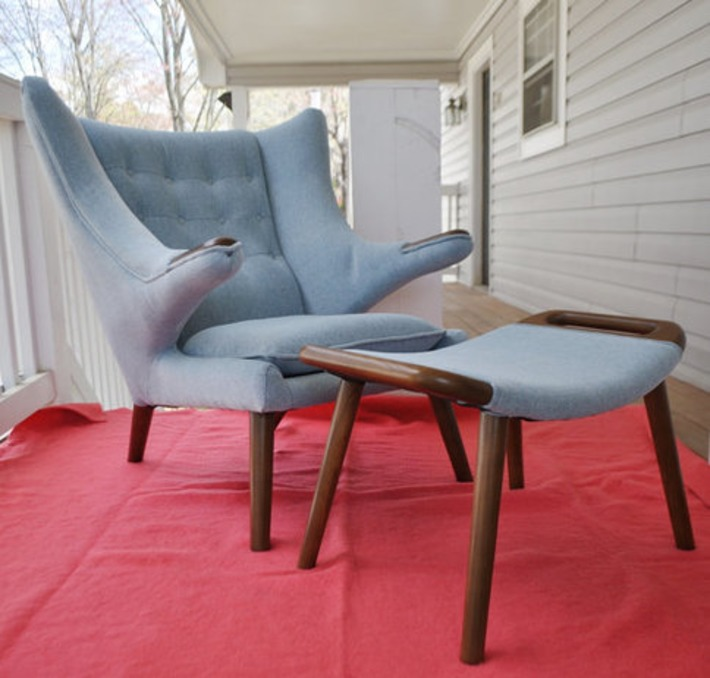 Papa Bear Chair & Ottoman | Antiques & Vintage Collectibles | Scoop.it
