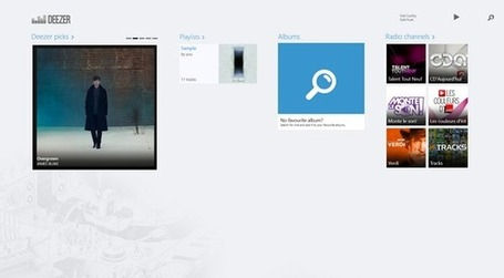 Deezer Music Streaming App for Windows 8 | Windows 8 Apps | Scoop.it