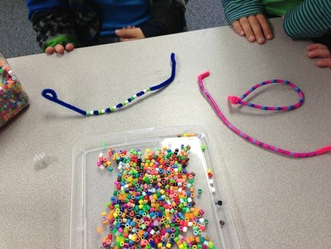 Patterns with Perler Beads and Pipe Cleaners | meaningful Kindergarten lessons | Scoop.it