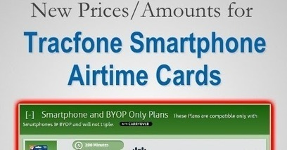 TracfoneReviewer: New Prices/Changes to Tracfone Smartphone Cards | Tracfone Reviews and Promo Codes | Scoop.it