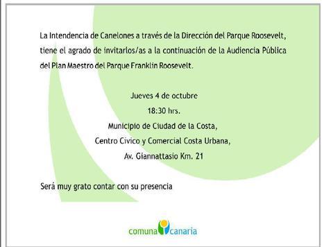 Uruguay/ Canelones /Audiencia Pública Parque Roosevelt 4/10/2012 | MOVUS | Scoop.it