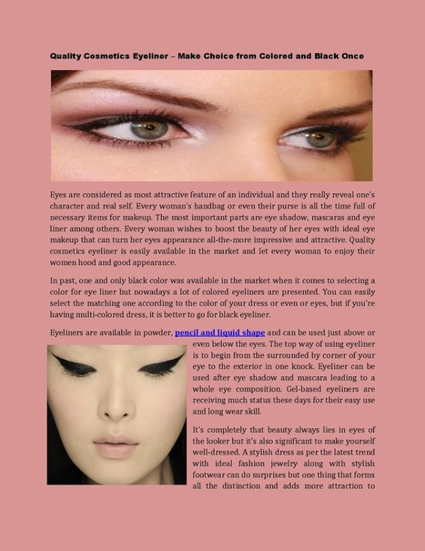 Choice Colored or Black Quality Cosmetics Eyeliner | quality pencils - Eyeliner | Scoop.it